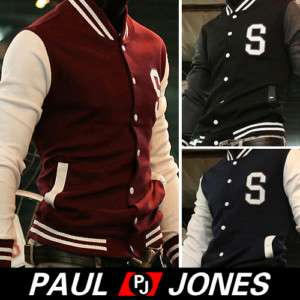 PJ Men's Stylish Slim Fit Jackets Coats Hoody Size XS~L