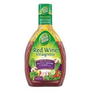 Wishbone Salad Dressing, Red Wine Vinaigrette, 16 Ounce Bottles (Pack