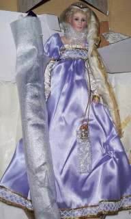 Franklin Mint Porcelain Rapunzel 18 Doll MIB / COA