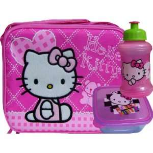 New Hello Kitty White Graphics Lunch Box + Container