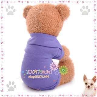 PURPLE Pet Clothes Classic COTTON DOG Clothes Apparel POLO T Shirts XS