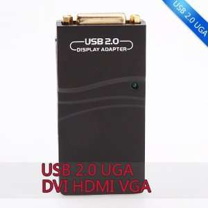 USB 2.0 To VGA/DVI/HDMI Multi Display Adapter Converter