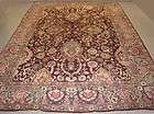 BURGUNDY ANTIQUE 1880 AGRA ORIENTAL HAND KNOTTED WOOL AREA RUG CARPET