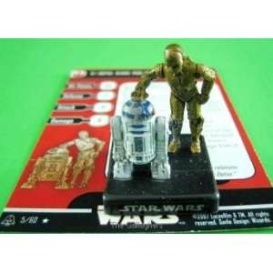 STAR WARS MINIATURES A&E C 3PO & R2 D2 5/60 RARE Toys & Games