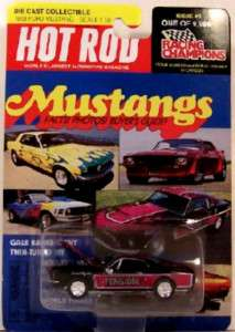 RACING CHAMPIONS ~ 1968 FORD MUSTANG ~ BLACK ~ 1/64