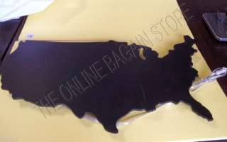Teen USA US Map Wall Light Lamp Plaque Chalkboard Blackboard