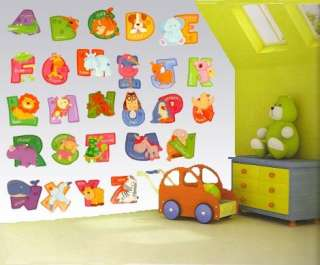 LARGE Nursery/Childrens Bedroom ALPHABET Wall Stickers