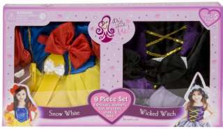 SNOW WHITE WICKED WITCH dress up set girls costume 3 6