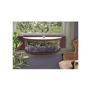 Panoramic In House Window Bird Feeder   Mirrored Patio