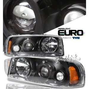 00 06 GMC Sierra Denali Projector Headlights   Black by