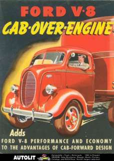 1938 Ford COE Truck Brochure Poster