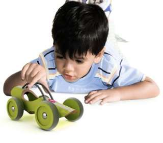 Hape E RACER SUZUKA GREEN bamboo wooden toy car