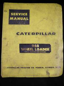 CAT CATERPILLAR Service Manual 988 Wheel Loader 87A