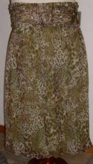 Suzi Chin Maggie Boutique Dress NEW Brown Strapless WOW