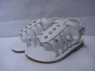 Baby Girl White Gladiator Sandal (61) INFANT size 1