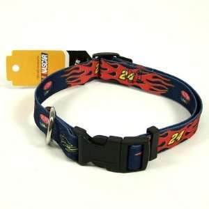 JEFF GORDON ADJUSTABLE NYLON DOG PET COLLAR SZ L