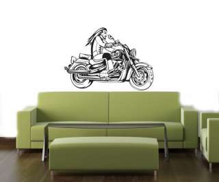 BIKE CHOPPER HARLEY Wall Decor Vinyl Decal Sticker B10