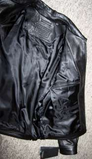 Lamb Leather ZIP Bomber JACKET, Coat L Large NEW 0809140512882