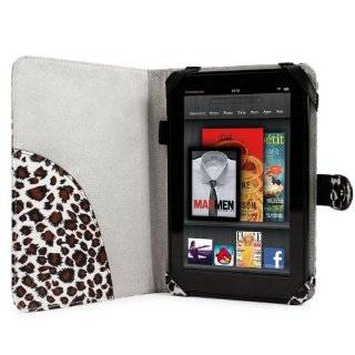 Folio Cover Case for  Kindle Fire Tablet PC   Leopard Print
