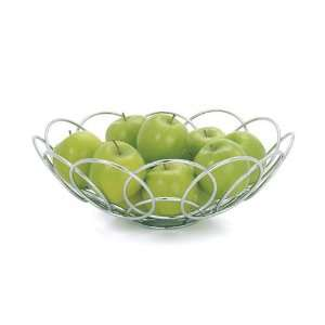Torre & Tagus Spiral Chrome Fruit Basket