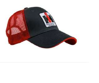 International Harvester Embroidered Red Gray Hat Cap