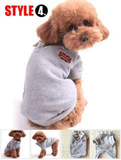 VARIOUS DOG HOODIE Sweatershirt puppy clothes Jacket Coat XS S M L XL