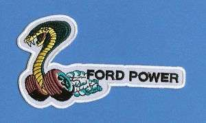 Ford Mustang Shelby A C Cobra Patch Crest C