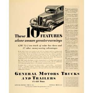 1935 Ad General Motors Trucks Trailers GMC Pontiac Mich