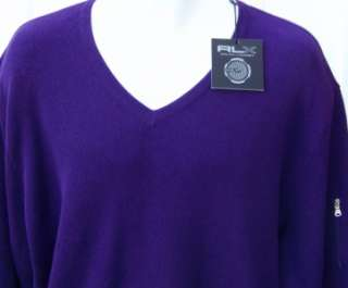Ralph Lauren mens RLX purple golf sweater xl $225 nwt