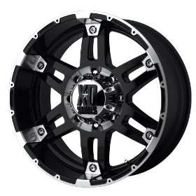 XD Series Spy XD797 Gloss Black Machined Wheel (18x8.5