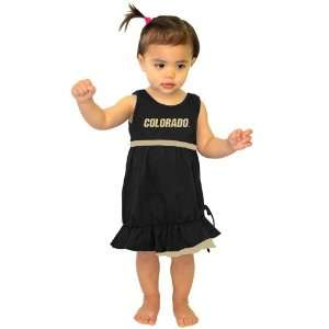 Buffaloes Toddler Girls Black Lonestar Dress