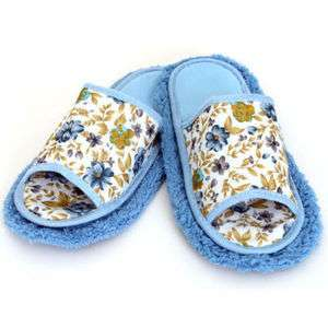 Flower Rag Slippers House Shoes Velcro Removable Clean