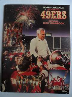 1985 San Francisco 49ers Yearbook Football NFL Rice RC