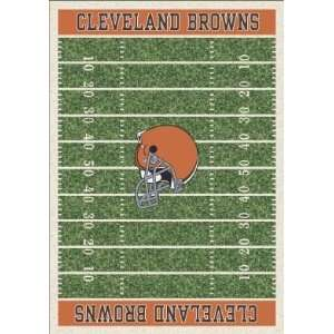 Milliken Cleveland Browns 10 9 x 13 2 green Area Rug