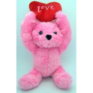 Day Heart Pink Love Toy Teddy Bear Plush Red Heart Love Toys & Games