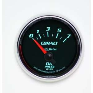 6127 M Cobalt 2 1/16 0 7 Bars Short Sweep Electric Oil Pressure Gauge