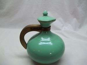 Vintage Retro Kitchen Decor Pottery Carafe Pitcher Baby Blue