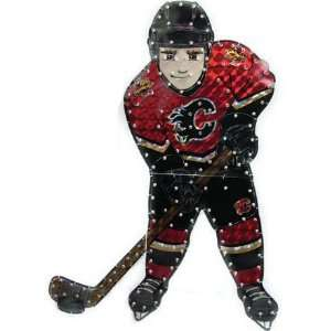 9 NHL Calgary Flames Lighted Hockey Player Car Window