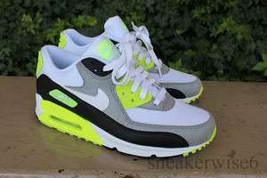 Nike Air Max 90 White Grey and Volt , dunk toki 1 95 360 180