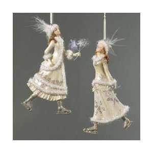 Club Pack of 12 Victorian Winter Ice Skating Lady Christmas Ornaments