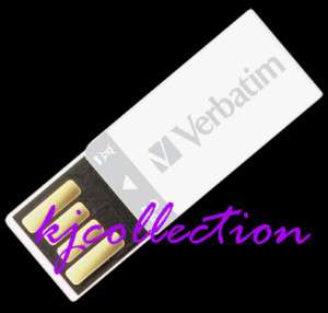 Verbatim 4GB 4G USB Flash Drive Mini Slim WHITE Clip it