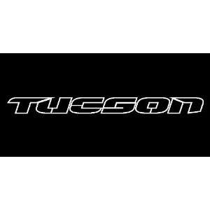Hyundai Tucson Outline Windshield Vinyl Banner Decal 36 x 3