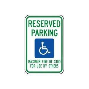GRAPHIC) Sign 18 x 12 .080 Reflective Aluminum   ADA Parking Signs