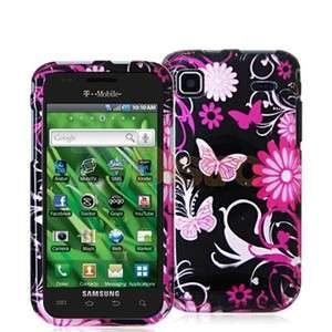 Butterfly Flower Hard Case Cover for Samsung Galaxy S 4G Vibrant T959