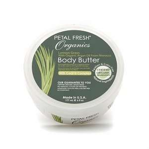 Petal Fresh Organics Body Butter, Lemongrass, 6 fl oz Beauty