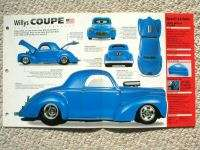 1940 WILLYS Custom COUPE HOT ROD SPEC SHEET/Brochure