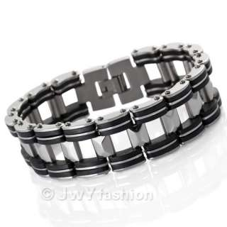 MENS Stainless Steel Link Chain Bracelet Cuff NEW vc696
