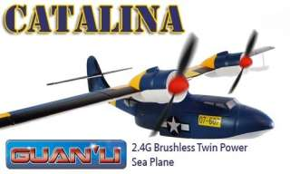 Catalina 4CH Brushless Twin Power RC Sea Plane, Boat