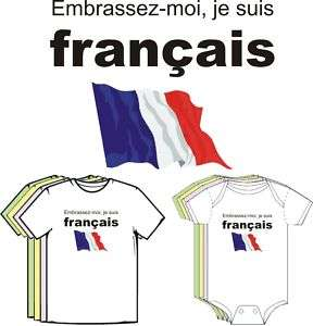 Kiss Me Im French France Cute Baby Boy Girl Clothes