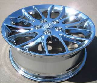 NEW 17 FACTORY HYUNDAI GENESIS OEM CHROME WHEELS RIMS 2009 2012   SET